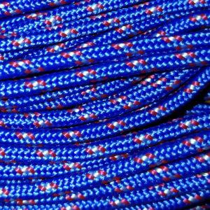 Corde – Bleu Moucheté Rouge / Blanc