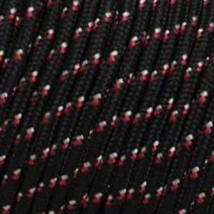 Corde – Noir Moucheté Blanc & Rouge