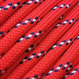 Corde – Rouge moucheté bleu et blanc